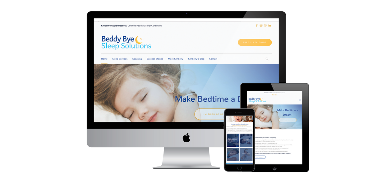 sleep consulting website design